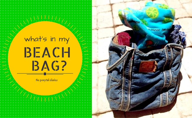 What's in My Beach Bag? {ponytail diaries}