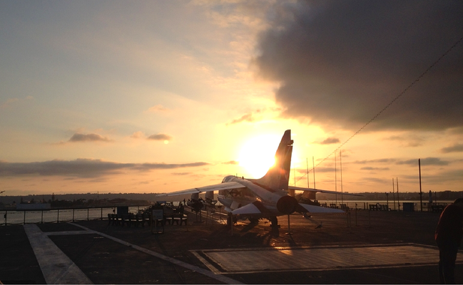 Sunset on the USS Midway