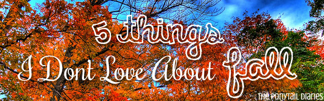 5 Things I Don't Love About Fall {the ponytail diaries}