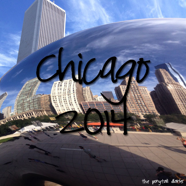 Chicago skyline reflected in the Bean {the ponytail diaries}