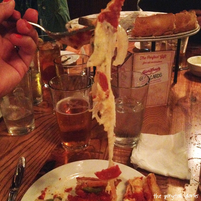 Giordano's extra-cheesy deep dish pizza, Chicago {the ponytail diaries}
