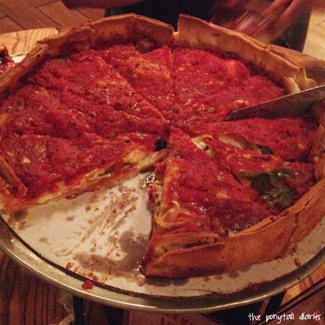 Giordano's Pizza, Chicago {the ponytail diaries}