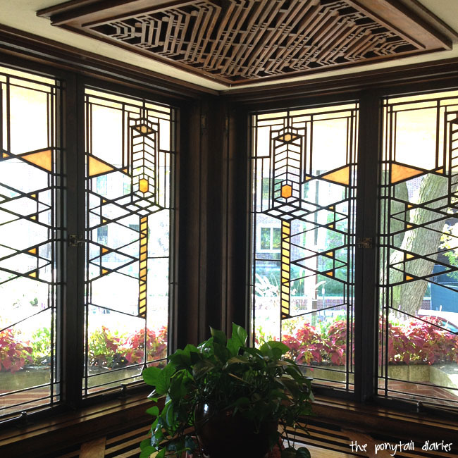 Robie House Interior Art Glass Window, Chicago {the ponytail diaries}