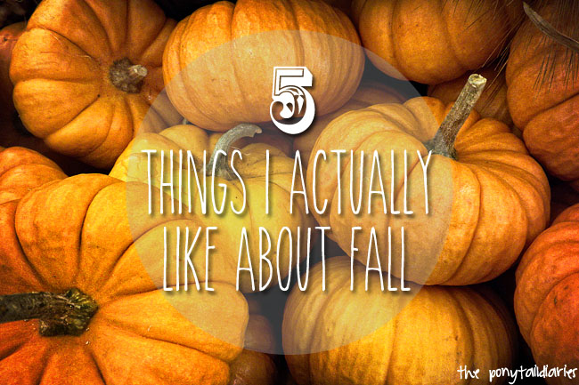 Pumpkins / 5 Things I Actually Like About Fall {the ponytail diaries}
