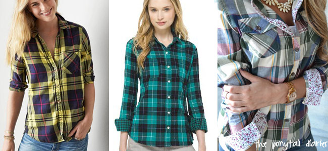 Plaid Shirts from Piace Boutique, Target, American Eagle {the ponytail diaries}