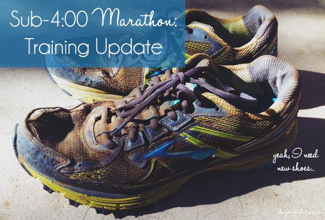 Sub-4:00 Marathon Training Update {the ponytail diaries}