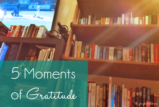 Another 5 Moments of Gratitude {the ponytail diaries}