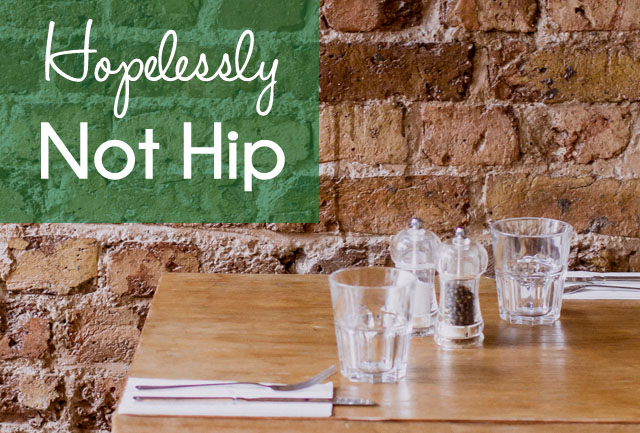 Hopelessly Not Hip {the ponytail diaries}