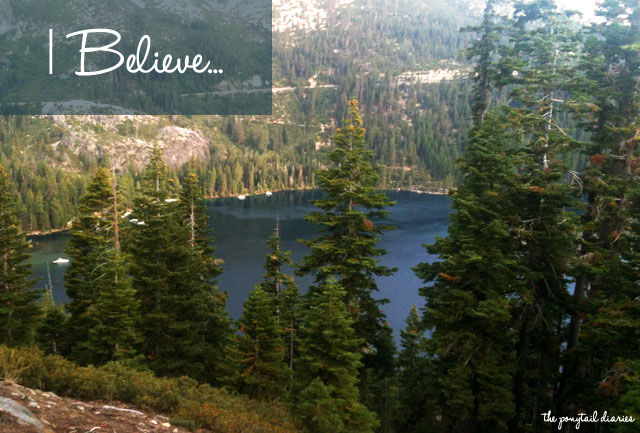 I Believe... {the ponytail diaries}